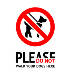 No dog fouling sign modern trendy label for city vector