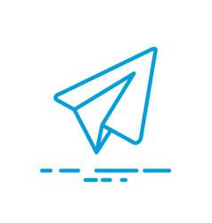 Paper aircraft logo icon vector