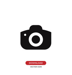 photo camera icon isolated on white background vector image
