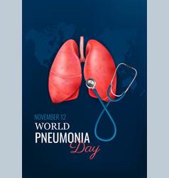 Pneumonia day realistic concept vector
