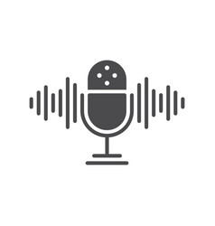 podcast icon on a white background icon stamp vector image