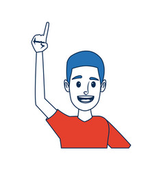 Portrait funny guy cartoon young people profile vector