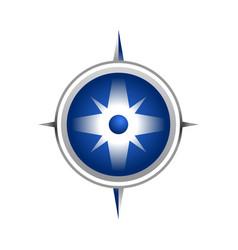 realistic blue compass symbol design vector image