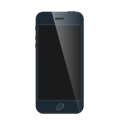 Realistic blue mobile phone with blank screen vector image