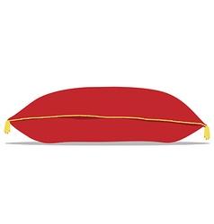 Red pillow vector