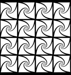 Repeatable pattern with spiral shapes art vector