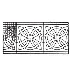Romanesque interlacement band curves that have an vector