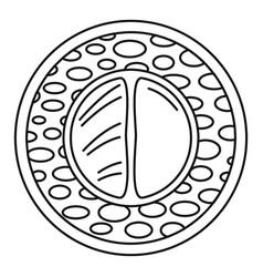 Sake wasabi sushi icon outline style vector