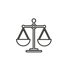 scales for balance icon vector image