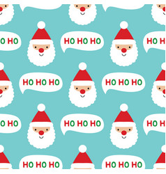 Seamless christmas pattern with santa claus face vector