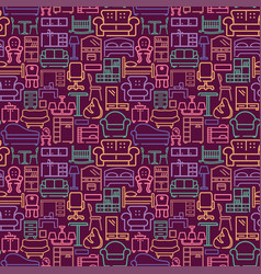 seamless furniture background pattetn with vector image
