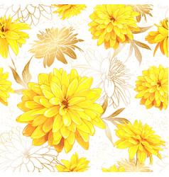 Seamless pattern summer flowers vector