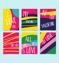 Set creative holidays journaling cards vector