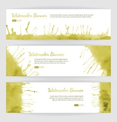 Set of watercolor banners vector