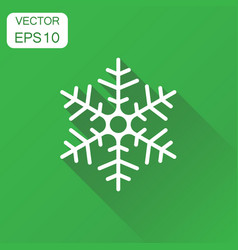 Snowflake icon business concept winter snowfall vector