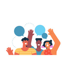 social friend group for communication concept vector image