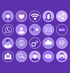 social network profiles set vector image
