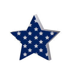 Star with many stars inside icon vector