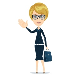 Successful young woman vector