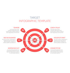 target with six arrows vector image