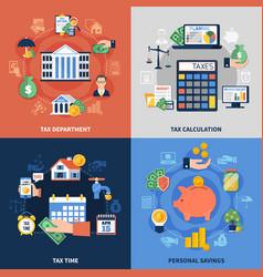 Tax design concept vector