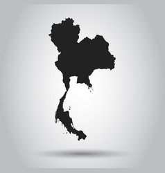 thailand map black icon on white background vector image