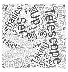The Basics of Buying a Telescope Word Cloud vector