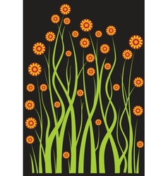 The flowers vector image