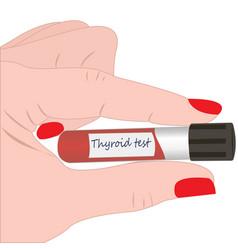 Thyroid test tube diagnosis technology vector