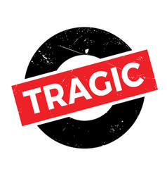 Tragic rubber stamp vector