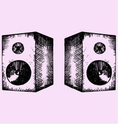 Two sound speakers vector
