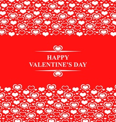 Valentine card red vector