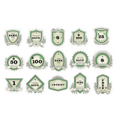 vintage badge retro sticker or premium vector image