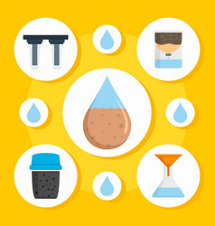 Water purification concept background flat style vector