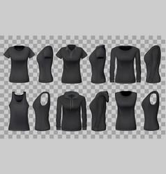 Womenswear apparel shirts templates 3d vector