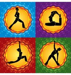 Yoga square vector