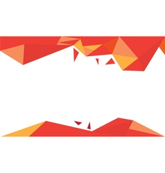 background trangle orange vector image