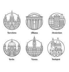 europe travel destinations vector image vector image