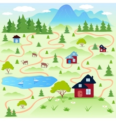 nature map vector image vector image