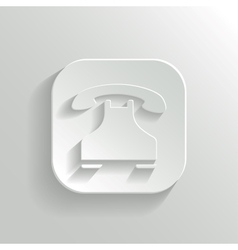 Phone icon - white app button vector