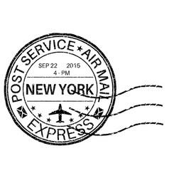 postmark new york vector image vector image