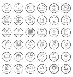 Set of universal modern thin line icons for web vector image