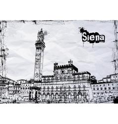 Siena City Hall on Piazza del Campo vector image