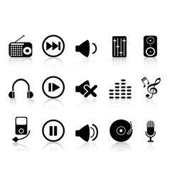 sound icons set vector image