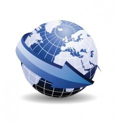 world map arrow vector image vector image