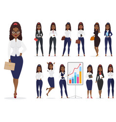african american black businesswoman lady vector image