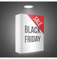 Black Friday Sale White Carton Box Template vector image vector image