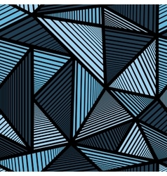 Colorful pattern with blue triangle vector image
