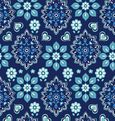 navy bandana seamless background vector image vector image