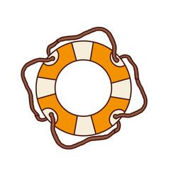Aged flotation hoop with cord vector
